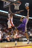 Phoenix Suns v Miami Heat: Josh Childress and Joel Anthony Photographic Print by Mike Ehrmann