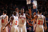 Miami Heat v New York Knicks: Amar&#39;e Stoudemire and Raymond Felton Photographic Print by Nathaniel S. Butler