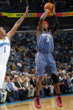 Charlotte Bobcats v New Orleans Hornets: Gerald Wallace and Trevor Ariza Photographic Print by Layne Murdoch