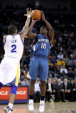 Minnesota Timberwolves v Golden State Warriors: Jonny Flynn and Acie Law Photographic Print by Ezra