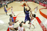 Sacramento Kings v Houston Rockets: Jason Thompson and Luis Scola Photographic Print by Bill Baptist