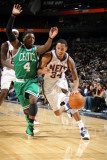 Boston Celtics v New Jersey Nets: Nate Robinson and Devin Harris Photographic Print by Nathaniel S. Butler