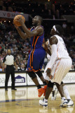 New York Knicks v Charlotte Bobcats: Raymond Felton and Gerald Wallace Photographic Print by Streeter Lecka