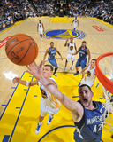 Minnesota Timberwolves v Golden State Warriors: Kevin Love and Andris Biedrins Fotografisk trykk av Rocky Widner