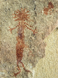 An Anthropomorphic Chumash Pictograph Above a Cave Entrance Photographic Print by Rich Reid