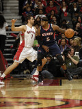 Atlanta Hawks v Toronto Raptors: Josh Smith and Andrea Bargnani Photographic Print by Ron Turenne
