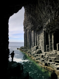 Fingal's Cave on the Isle of Staffa Off the West Coast of Mull Fotografiskt tryck av Jim Richardson