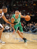 Boston Celtics v New Jersey Nets: Stephen Graham and Avery Bradley Photographic Print by Nathaniel S. Butler