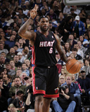 Miami Heat v Dallas Mavericks: LeBron James Photographic Print by Glenn James