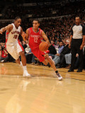 Houston Rockets v Toronto Raptors: Kevin Martin and DeMar DeRozan Photographic Print by Ron Turenne