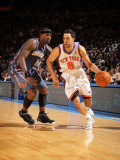 Charlotte Bobcats v New York Knicks: Landry Fields and Stephen Jackson Photographic Print by Nathaniel S. Butler