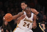 Indiana Pacers v Los Angeles Lakers: Danny Granger and Kobe Bryant Photographic Print by Jeff Gross