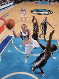 Utah Jazz v Dallas Mavericks: Dirk Nowitzki and Paul Millsap Photographic Print by Glenn James