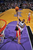 Houston Rockets v Sacramento Kings: Samuel Dalembert and Luis Scola Photographic Print by Rocky Widner