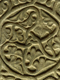 A Detail of a Celtic Stone Carving Photographic Print by Jim Richardson