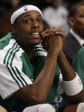 Atlanta Hawks v Boston Celtics: Paul Pierce Photographic Print by  Elsa