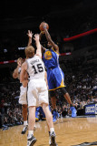 Golden State Warriors v San Antonio Spurs: Dorell Wright, Matt Bonner and Richard Jefferson Photographic Print by D. Clarke Evans