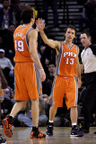 Phoenix Suns v Golden State Warriors: Steve Nash and Hedo Turkoglu Photographic Print by Ezra Shaw