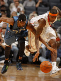 Minnesota Timberwolves v Charlotte Bobcats: Tyrus Thomas and Corey Brewer Photographic Print by Kent Smith