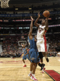 Washington Wizards v Toronto Raptors: Ed Davis and Alonzo Gee Photographic Print by Ron Turenne