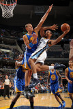 Golden State Warriors v Memphis Grizzlies: Xavier Henry and Andris Biedrins Photographic Print by Joe Murphy