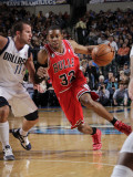 Chicago Bulls v Dallas Mavericks: C.J. Watson and Jose Juan Barea Photographic Print by Glenn James