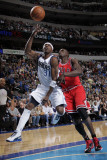 Chicago Bulls v Dallas Mavericks: Jason Terry and Luol Deng Photographic Print by Glenn James