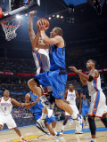 Dallas Mavericks v Oklahoma City Thunder: Dirk Nowitzki and Nenad Krstic Photographic Print by Layne Murdoch
