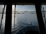 View from the Pilot House of a Ferry from Oban to Castlebay, Barra Photographic Print by Jim Richardson