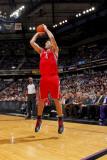 Houston Rockets v Sacramento Kings: Luis Scola Fotografisk trykk av Rocky Widner