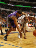 Phoenix Suns v Charlotte Bobcats: Tyrus Thomas and Jared Dudley Photographic Print by Kent Smith