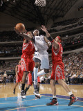 Houston Rockets v Dallas Mavericks: Jason Terry, Jordan Hill and Brad Miller Photographic Print by Danny Bollinger