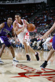 Sacramento Kings v Houston Rockets: Kevin Martin and Luther Head Photographic Print by Bill Baptist