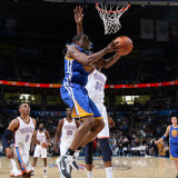 Golden State Warriors v Oklahoma City Thunder: Charlie Bell and Kevin Durant Photographic Print by Layne Murdoch