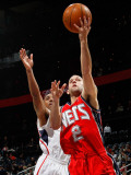 New Jersey Nets v Atlanta Hawks: Jeff Teague and Jordan Farmar Photographic Print by Kevin Cox
