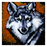Grey Wolf Art