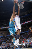 New Orleans Hornets v Oklahoma City Thunder: Kevin Durant and Jason Smith Photographic Print by Layne Murdoch