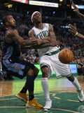 Denver Nuggets v Boston Celtics: J.R. Smith and Marquis Daniels Photographic Print by  Elsa