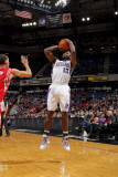 Houston Rockets v Sacramento Kings: Tyreke Evans and Kevin Martin Photographic Print by Rocky Widner