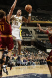 Cleveland Cavaliers  v Indiana Pacers: Brandon Rush and Anderson Varejao Photographic Print by Ron Hoskins
