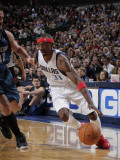Minnesota Timberwolves v Dallas Mavericks: Jason Terry and Kevin Love Photographic Print by Glenn James
