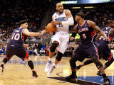 Atlanta Hawks v Orlando Magic: Vince Carter, Mike Bibby and Josh Smith Photographic Print by Sam Greenwood