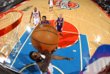Los Angeles Lakers v Detroit Pistons: Ben Gordon and Devin Ebanks Photographic Print by Allen Einstein