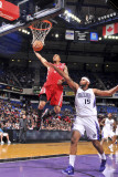 Houston Rockets v Sacramento Kings: Courtney Lee and DeMarcus Cousins Photographic Print by Rocky Widner