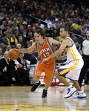 Phoenix Suns v Golden State Warriors: Steve Nash and Stephen Curry Photographic Print by Ezra Shaw