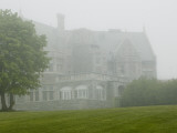 Fog Envelops the Branford House Mansion at Avery Point Photographic Print by Todd Gipstein