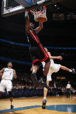 Miami Heat v Washington Wizards: LeBron James and JaVale McGee Photographic Print by Ned Dishman