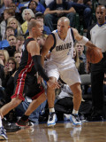 Miami Heat v Dallas Mavericks: Jason Kidd and Carlos Arroyo Photographic Print by Glenn James