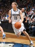 San Antonio Spurs v Minnesota Timberwolves: Luke Ridnour Photographic Print by David Sherman