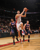 Atlanta Hawks v Toronto Raptors: Andrea Barngani and Josh Smith Photographic Print by Ron Turenne